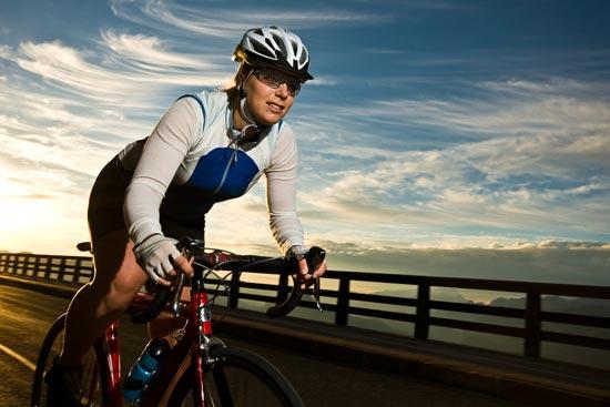 Radrennfahrerin